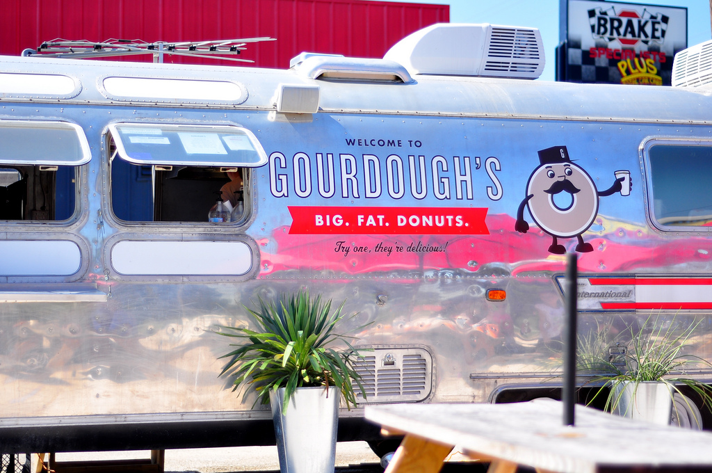 My favorite Austin foodtruck may have been my original inspiration for buying an Airstream. This silver bullet serves up some fatteningly delicious doughnuts.